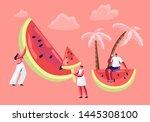 summertime leisure  beach party.... | Shutterstock .eps vector #1445308100