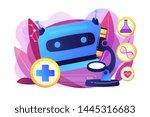 robotic doctor  artificial... | Shutterstock .eps vector #1445316683