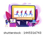 animator working on character... | Shutterstock .eps vector #1445316743