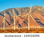 Wind Turbines Near Palm Spring...