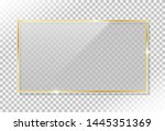 shiny gold frame with glass and ... | Shutterstock .eps vector #1445351369