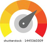 radial gauge scale from yellow...   Shutterstock .eps vector #1445360309