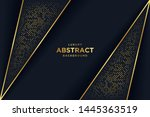 luxury black background with 3d ... | Shutterstock .eps vector #1445363519