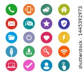 universal flat style icons for...