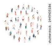 crowd of people. men and women... | Shutterstock .eps vector #1445405186