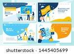 set of landing page design... | Shutterstock .eps vector #1445405699