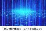 abstract net futuristic digital ... | Shutterstock . vector #1445406389