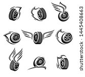 car wheels collection set.... | Shutterstock .eps vector #1445408663