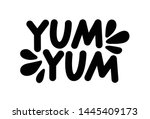 yum yum text. only one single... | Shutterstock .eps vector #1445409173