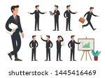 businessman character set.... | Shutterstock .eps vector #1445416469