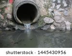 drain pipe or effluent or sewer ...   Shutterstock . vector #1445430956