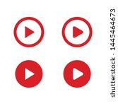 play button vector set. media... | Shutterstock .eps vector #1445464673