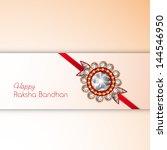 indian festival raksha bandhan... | Shutterstock .eps vector #144546950