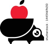 hedgehog black silhouette... | Shutterstock .eps vector #1445469650