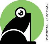 frog black silhouette vector... | Shutterstock .eps vector #1445469653