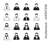 user icons or people icons... | Shutterstock .eps vector #144547358