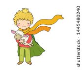 cute king and lamb.the boy in...   Shutterstock .eps vector #1445480240