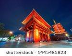 pagoda in senso ji  a buddhist... | Shutterstock . vector #1445485823