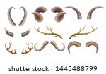 hunting trophy animal horns... | Shutterstock .eps vector #1445488799