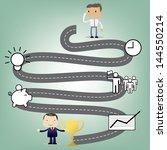 business man cartoon character... | Shutterstock .eps vector #144550214