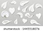 white cream smears swatch set....   Shutterstock .eps vector #1445518076