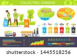 people collecting garbage... | Shutterstock .eps vector #1445518256