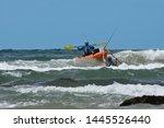 Fishermen With Ocean Kayak In...