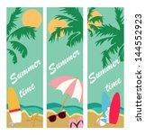 paradise banner | Shutterstock .eps vector #144552923