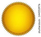 golden seal | Shutterstock . vector #144553976