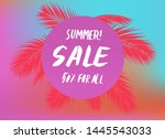 vector poster with tropical... | Shutterstock .eps vector #1445543033