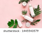 natural cosmetics and green... | Shutterstock . vector #1445543579