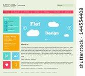 flat web design template. | Shutterstock .eps vector #144554408