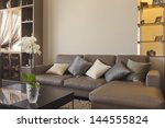 big and comfortable living room ... | Shutterstock . vector #144555824