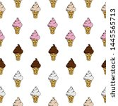 seamless pattern sweet ice... | Shutterstock .eps vector #1445565713