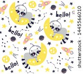 seamless pattern with cute...   Shutterstock .eps vector #1445566010