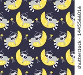 seamless pattern with cute...   Shutterstock .eps vector #1445566016