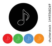 music note icon musical half... | Shutterstock .eps vector #1445568269