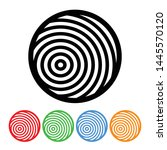 concentric circle design... | Shutterstock .eps vector #1445570120