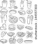 vector illustration of fast... | Shutterstock .eps vector #144557303