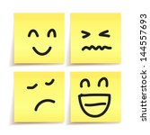hand drawn emotion on paper... | Shutterstock .eps vector #144557693