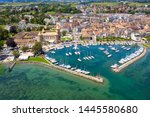 aerial view of morges castle in ...   Shutterstock . vector #1445580680