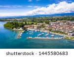 aerial view of morges castle in ...   Shutterstock . vector #1445580683