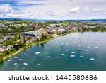 aerial view of morges city...   Shutterstock . vector #1445580686