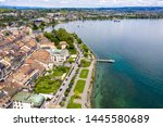 aerial view of morges city...   Shutterstock . vector #1445580689