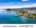 aerial view of morges city...   Shutterstock . vector #1445580710