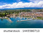 aerial view of morges city...   Shutterstock . vector #1445580713