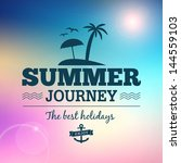 summer journey vector text... | Shutterstock .eps vector #144559103