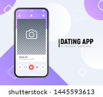 Dating app online mobile concept. Female male profile flat design. Couple match for relationship.