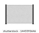 fence wire metal chain link....   Shutterstock .eps vector #1445593646