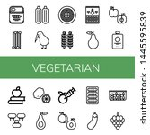 set of vegetarian icons such as ... | Shutterstock .eps vector #1445595839